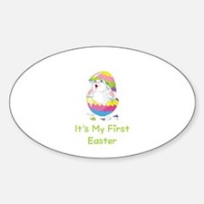 It's My First Easter Sticker (Oval)
