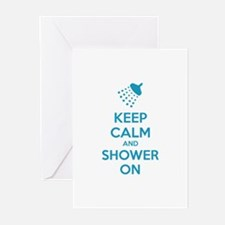 Keep Calm And Shower On Greeting Cards (Pk of 10)