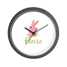 Easter Bunny Eloise Wall Clock