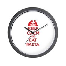 Keep Calm And Eat Pasta Wall Clock