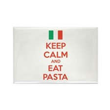 Keep Calm And Eat Pasta Rectangle Magnet (10 pack)
