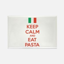 Keep Calm And Eat Pasta Rectangle Magnet (100 pack