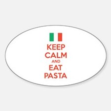 Keep Calm And Eat Pasta Sticker (Oval)