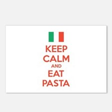 Keep Calm And Eat Pasta Postcards (Package of 8)