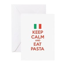 Keep Calm And Eat Pasta Greeting Cards (Pk of 10)
