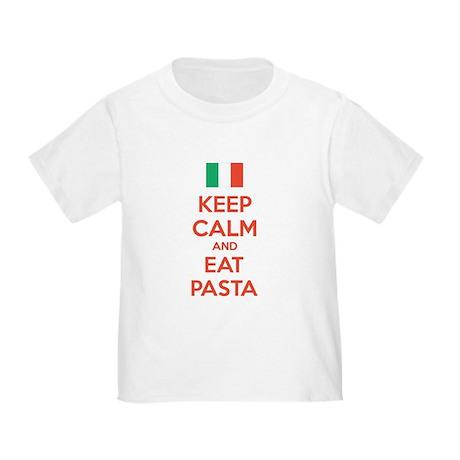 Keep Calm And Eat Pasta Toddler T-Shirt