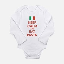 Keep Calm And Eat Pasta Long Sleeve Infant Bodysui