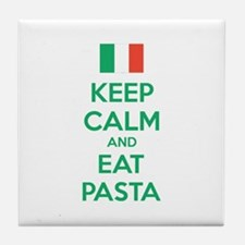 Keep Calm And Eat Pasta Tile Coaster