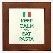 Keep Calm And Eat Pasta Framed Tile