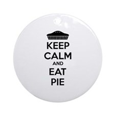 Keep Calm And Eat Pie Ornament (Round)