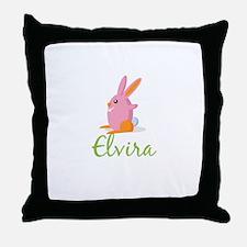 Easter Bunny Elvira Throw Pillow
