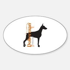 Grunge Doberman Silhouette Decal