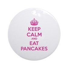 Keep Calm And Eat Pancakes Ornament (Round)