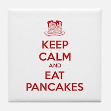 Keep Calm And Eat Pancakes Tile Coaster