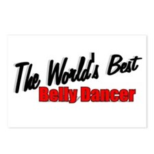 """""""The World's Best Belly Dancer"""" Postcards (Package"""