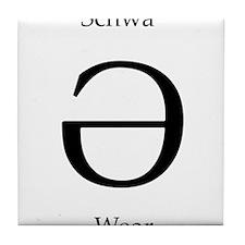 Schwa Wear Tile Coaster