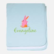 Easter Bunny Evangeline baby blanket