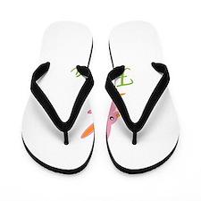 Easter Bunny Felicia Flip Flops