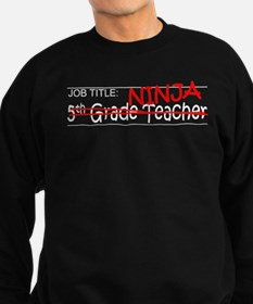 Job Ninja 5th Grade Sweatshirt (dark)
