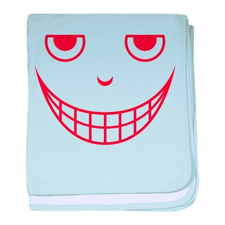 Creepy Scary Mean Halloween Face baby blanket
