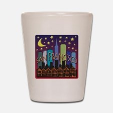San Francisco Skyline Mega Color Shot Glass