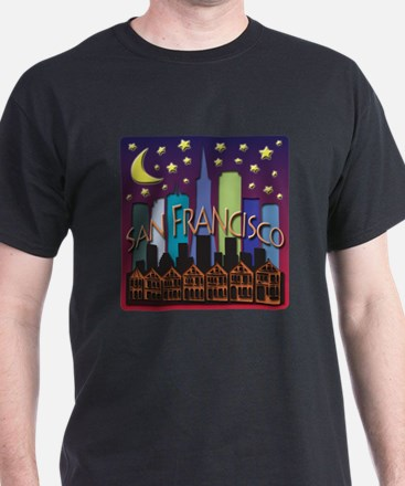 San Francisco Skyline Mega Color T-Shirt