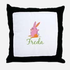 Easter Bunny Freda Throw Pillow