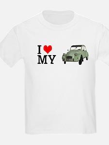 I love my 2CV - Ente - Deuche - Tin Snail T-Shirt