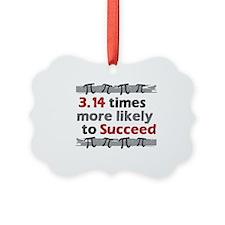 Pi Success Funny Math Ornament