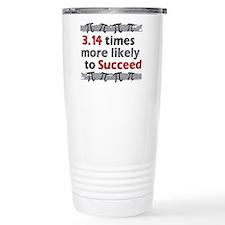 Pi Success Funny Math Travel Mug