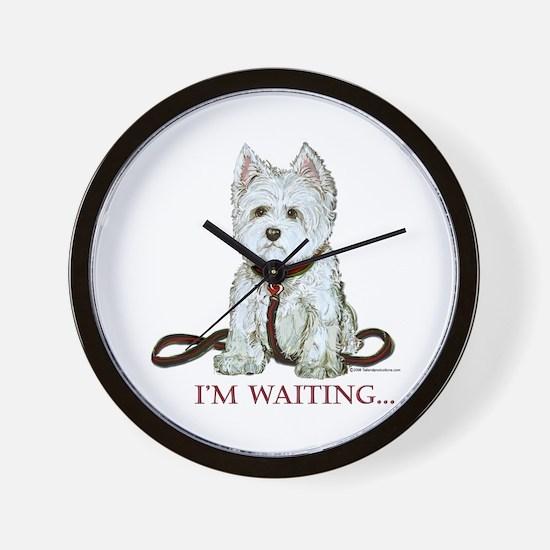Westie Walks Wall Clock