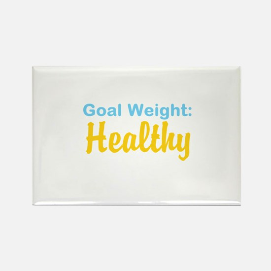 Goal Weight: Healthy Rectangle Magnet
