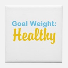 Goal Weight: Healthy Tile Coaster