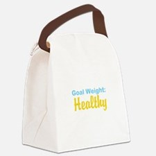 Goal Weight: Healthy Canvas Lunch Bag