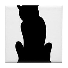 Cute Bad kitty Tile Coaster