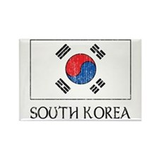 South Korea Flag Rectangle Magnet