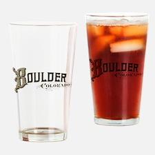 Boulder Colorado Drinking Glass