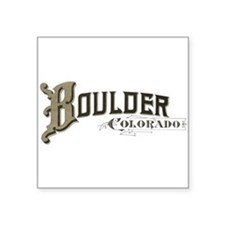 "Boulder Colorado Square Sticker 3"" x 3"""