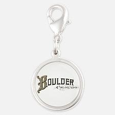 Boulder Colorado Silver Round Charm