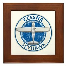 Aviation Cessna Skyhawk Framed Tile