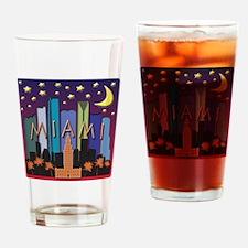 Miami Skyline Mega Color Drinking Glass
