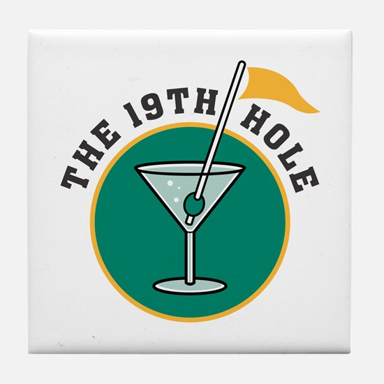The 19th Hole Tile Coaster