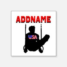 "AMERICAN GYMNAST Square Sticker 3"" x 3"""