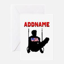 AMERICAN GYMNAST Greeting Card