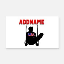 AMERICAN GYMNAST Rectangle Car Magnet