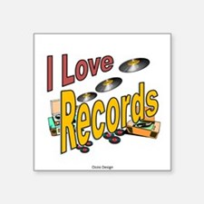 I Love Records Sticker
