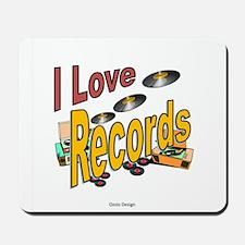 I Love Records Mousepad