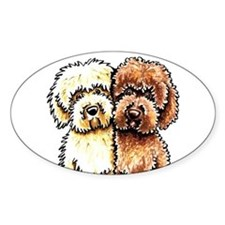 Cream Chocolate Labradoodle Stickers