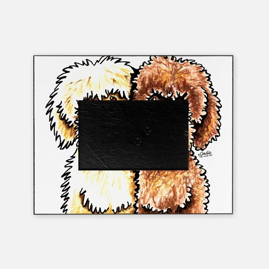Cream Chocolate Labradoodle Picture Frame