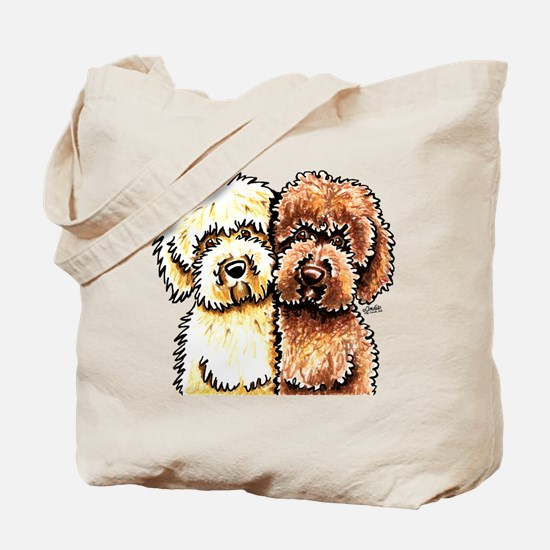Cream Chocolate Labradoodle Tote Bag